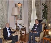 سامح شكري يستقبل وليد جنبلاط رئيس الحزب التقدمي الاشتراكي اللبناني