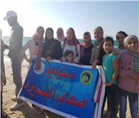 """فريق مكفوفي """"ذوي البصيرة"""" يواصل مبادرة الترويج السياحي على شاطىء البحر بالعريش"""