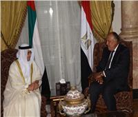 وزير الخارجية يستقبل وزير الدولة للشئون الخارجية الإماراتي