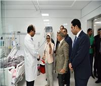 وزيرة الصحة تتابع حالة طفلين خضعا لعمليات في القلب بمستشفى النصر