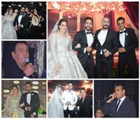 صور| تامر حسني وفؤاد والليثي وأمينة نجوم زفاف «منصور ورغدة»