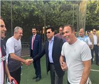 وزير الرياضة يشهد بطولة كأس «ديفيز ٢٠١٩» بنادي الجزيرة