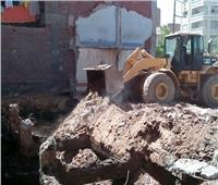 إزالة 7 حالات تعدي على الأراضي الزراعية بمركز بني مزار بالمنيا