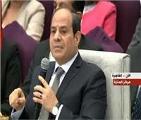 الرئيس السيسي: لم يتم بناء سدود على نهر النيل قبل 2011