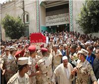 جنازة عسكرية لشهيد الواجب الوطني بكفر الشيخ
