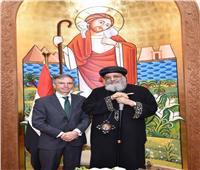 البابا تواضروس يستقبل وزير شؤون الشرق الأوسط البريطاني