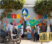 صور| استمرار تنفيذ فعاليات مشروع المدن الملونة في دمياط