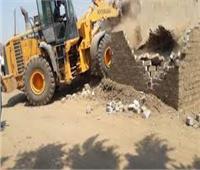 إزالة 101 حالة تعدى على أملاك الدولة والأراضي الزراعية بالغربية
