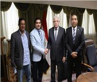 محافظ جنوب سيناء يستقبل رئيس الاتحاد المصري للميني فوتبول