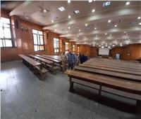 عميد تجارة عين شمس يتفقد الاستعدادات النهائية للعام الجامعي الجديد