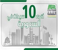 اليوم الوطني الـ89| «إنفوجراف» .. أٌقوى 10 سيدات في السعودية