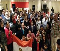 صور| المصريون يستقبلون «السيسي» في نيويورك