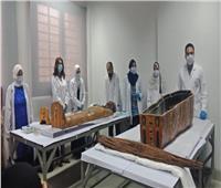 التفاصيل الكاملة لمراسم فك تغليف مومياوات لكبار رجال الدولة المصرية القديمة