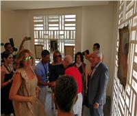 صور| افتتاح معرض مقتنيات إحسان عبد القدوس في الجونة