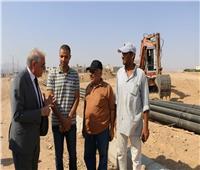 «فودة» يتفقد أعمال تطوير طريق سكن العاملين بشرم الشيخ