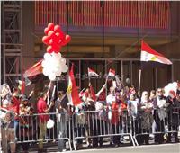 لليوم الثاني.. الجالية المصرية تنظم وقفة لتأييد السيسي  بنيويورك.. صور