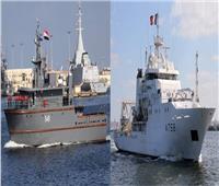 البحرية المصرية والفرنسية تنفذان تدريبًا بحرياً عابرًا بالبحر المتوسط