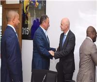 إنفانتينو يبحث التعاون مع الأهلي لتطوير كرة القدم الأفريقية
