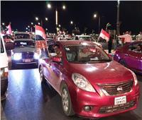 بالفيديو والصور| مسيرة بالسيارات في السويس لتأييد الرئيس السيسي
