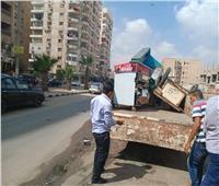 حملة للرفع الإشغالات بشوارع شرق مدينة نصر