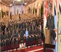 وزير الدفاع يلتقي طلبة وأعضاء هيئة التدريس بالكلية الفنية العسكرية