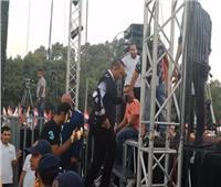 في مليونية تأييد السيسي| محمود الليثي يشعل حفل المنصة بـ«مصر حلوة»