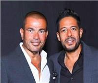 صور| كواليس لقاء عمرو دياب وحماقي في «القاهرة الجديدة»