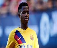 """""""أنسو فاتي"""" يعود لتدريبات برشلونة بعد تعافيه من الإصابة"""