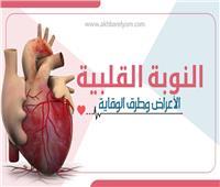 إنفوجراف| النوبة القلبية.. الأعراض وطرق الوقاية