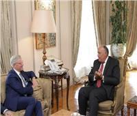 سامح شكري يستقبل رئيس لجنة الشئون الخارجية بالبوندستاج