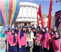 صور| ثقافة القاهرة في زيارة لبانوراما أكتوبر مع مدرسة الأمل للصم