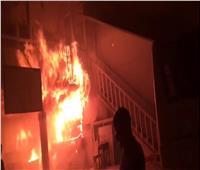 صور  إخماد حريق بمدرسة خاصة في الإسكندرية
