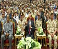 فيديو| أول تعليق من الرئيس السيسي على فيلم «الممر»