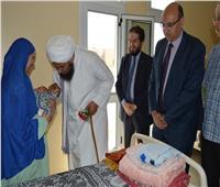 الحبيب على الجفرى في زيارة لمستشفى الأطفال بجامعة المنصورة