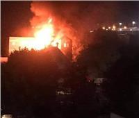 عاجل| فيديو وصور.. حريق هائل بكنيسة مارجرجس بحلوان