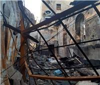 صور| حريق كنيسة مارجرجس حلوان