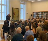 سامح شكري يلقي محاضرة حول السياسة الخارجية المصرية في النمسا