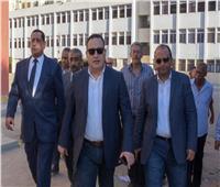 محافظ الإسكندرية يتفقد مباني مدرسة السادات