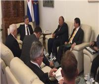 وزير الخارجية يلتقي رئيس وزراء كرواتيا