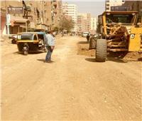 «الطرق بالقليوبية» تبدأ تطوير شارع الشعراوي بعد رفع الطبقة المتهالكة