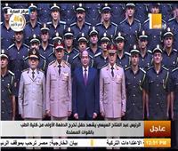 صورة تذكارية للرئيس السيسي مع الدفعة الأولى لكلية طب القوات المسلحة