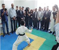 وزير الرياضة يفتتح صالة نادى مطروح الرياضي