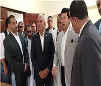 وزير الشباب والرياضة ومحافظ مطروح يفتتحان مركز شباب غوط رباح