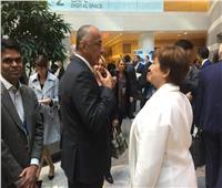 صور| محافظ البنك المركزي يلتقي مدير صندوق النقد الدولي