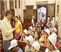 أبناء الصحفيين يُشاركون في ورشة فنية للرسم بملتقى الأديان