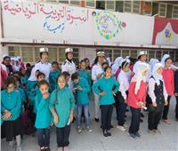 احتفالا باليوم العالمي للمكفوفين.. وفد من أمن شمال سيناء يزور مدرسة النور