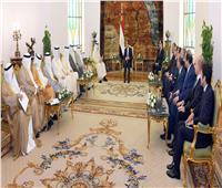 السيسي لرئيس مجلس الوزراء الكويتي: ارتباط أمن الخليج بالأمن القومي المصري