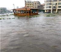 فيديو وصور| القاهرة تغرق في مياه الأمطار.. والمرور تواصل فتح الشوارع الرئيسية