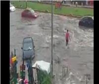 أمطار رعدية بشبرا الخيمة.. والشوارع «برك مياه»
