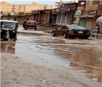 بسبب مياه الأمطار.. توقف حركة السير في شوارع قطور بالغربية